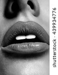 perfect makeup. lips. black and ...   Shutterstock . vector #439934776