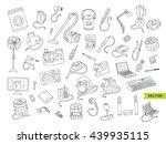 household appliances doodle...   Shutterstock .eps vector #439935115