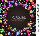 falling multicolor gems.... | Shutterstock .eps vector #439941142