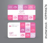pink gift voucher template with ...   Shutterstock .eps vector #439944676