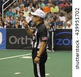 Small photo of AFL referee at Talking Stick Resort Arena in Glendale AZ USA 6-17-16.