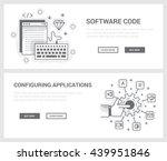 vector concept  a set of... | Shutterstock .eps vector #439951846