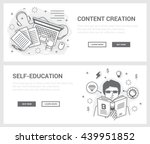 vector concept  a set of... | Shutterstock .eps vector #439951852