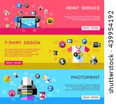 cmyk banner set with headlines... | Shutterstock .eps vector #439954192