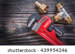 pipe wrench brass equal tee... | Shutterstock . vector #439954246