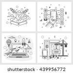 set of vector illustrations in...