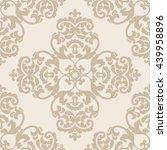 elegant damask wallpaper.... | Shutterstock .eps vector #439958896