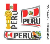 vector logo peru  3 isolated... | Shutterstock .eps vector #439960732