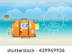 summer seaside vacation... | Shutterstock .eps vector #439969936