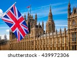 house of parliament and british ... | Shutterstock . vector #439972306