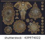mandala set and other elements. ... | Shutterstock .eps vector #439974022