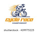 cycling race vector logo... | Shutterstock .eps vector #439975225