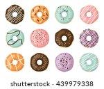 sweet vector donuts set | Shutterstock .eps vector #439979338