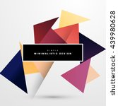 geometric vector background.... | Shutterstock .eps vector #439980628