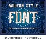vector handy crafted modern... | Shutterstock .eps vector #439985572