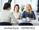 people  communication and... | Shutterstock . vector #439987822