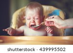baby cry  capricious  refuse to ... | Shutterstock . vector #439995502