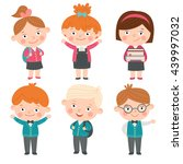 set of characters in a flat... | Shutterstock .eps vector #439997032