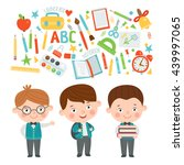 set of characters in a flat... | Shutterstock .eps vector #439997065