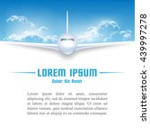 airplane in sky poster template | Shutterstock .eps vector #439997278