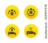 five stars hotel icons. travel...   Shutterstock .eps vector #439997578