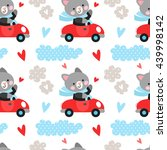 vector seamless pattern with...   Shutterstock .eps vector #439998142
