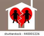 divorce and child custody... | Shutterstock . vector #440001226