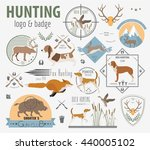 hunting logo and badge template.... | Shutterstock .eps vector #440005102