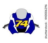 front view motor bike icon  ... | Shutterstock .eps vector #440006296
