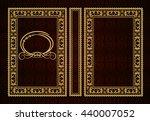 vector classical book cover.... | Shutterstock .eps vector #440007052