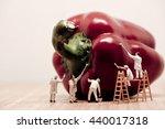 miniature painters coloring... | Shutterstock . vector #440017318