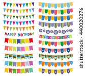 colorful bunting flags and... | Shutterstock .eps vector #440020276