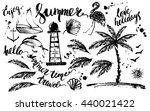 hand drawn ink summer design...   Shutterstock .eps vector #440021422