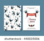 vector invitation with swallows ... | Shutterstock .eps vector #440035006