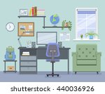 workspace for freelancer in... | Shutterstock .eps vector #440036926