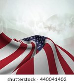 flag of the united states silky ... | Shutterstock . vector #440041402