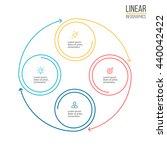 linear infographics. diagram ... | Shutterstock .eps vector #440042422