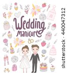wedding manicure poster for... | Shutterstock .eps vector #440047312