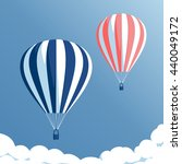 hot air balloons flying in the...   Shutterstock .eps vector #440049172