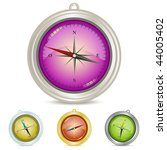 compass illustration set ... | Shutterstock .eps vector #44005402