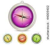 compass illustration set ... | Shutterstock .eps vector #44005402