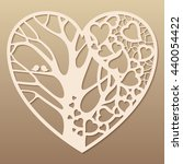 openwork heart with a tree... | Shutterstock .eps vector #440054422