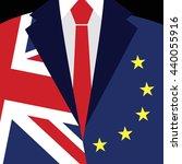 brexit concept. british flag ... | Shutterstock .eps vector #440055916
