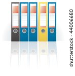 row of colored ring binders | Shutterstock .eps vector #44006680