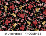 seamless flower pattern. vector ... | Shutterstock .eps vector #440068486
