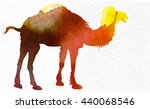 hand drawn camel vector image | Shutterstock .eps vector #440068546