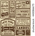 mega pack old advertisement... | Shutterstock .eps vector #440086675