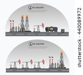 oil industry processing and... | Shutterstock .eps vector #440089972