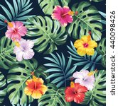 tropical seamless pattern with... | Shutterstock .eps vector #440098426