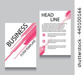 vector brochure flyer design... | Shutterstock .eps vector #440100166